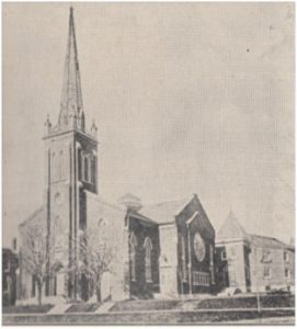 The church building after its 1907 renovation
